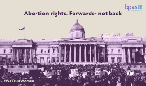 Abortion rights forwards not back